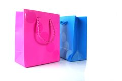 Him & her gift bags Royalty Free Stock Image