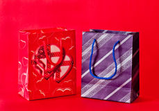 Him & her gift bags Stock Image