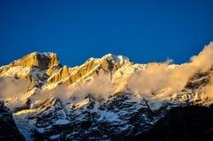 himachal shimla för himalayasindia pradesh solnedgång Arkivfoto