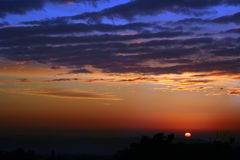 Himachal winter sunset patterns and hues, india Royalty Free Stock Photography