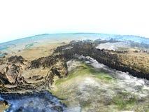 Himalaja auf Erde - sichtbarer Meeresgrund stock abbildung