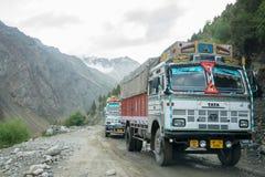Himalaja-Autoreise von Manali zu Leh im Jahre 2015 Lizenzfreie Stockfotografie