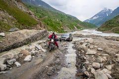 Himalaja-Autoreise von Manali zu Leh im Jahre 2015 Stockbilder