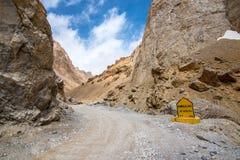 Himalaja-Autoreise von Manali zu Leh im Jahre 2015 Stockbild