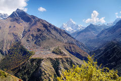 Himalaja-Berge Nepal Stockbild