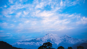 Himalaja-Berge, Nepal Stockbild
