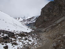 Himalaja-chola Durchlauf stockfotos