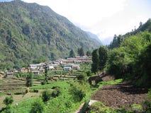 Himalaja-Dorf Stockbild