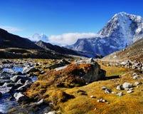Himalaja-Nepal-Gebirgsfluß Lizenzfreies Stockfoto