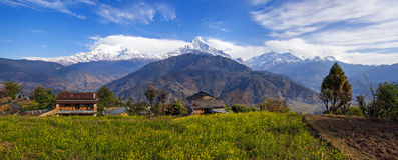 Himalaja-Panorama stockbild