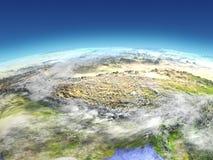 Himalaja vom Raum lizenzfreie abbildung
