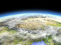 Himalaja vom Raum stock abbildung