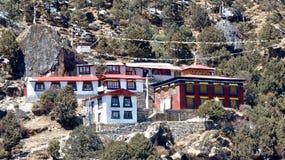 Himalajakrankenhaus, in einer Everest-basecamp Wanderung stockfotos