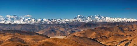 Himalajareichweite Stockfotos