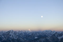 Himalajasonnenaufgang - Nepal Stockfoto