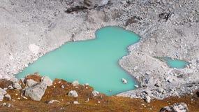 Himalaje, Glacjalny jezioro, góry Zdjęcie Stock
