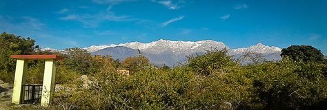 Himalaje panorama, Dharamshala, India zdjęcie stock