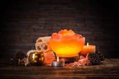 Himalajska krystaliczna lampa Obraz Royalty Free