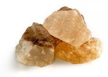 Himalajska menchii sól na odosobnionym białym tle Obrazy Stock