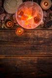 Himalajska menchii soli lampa Obrazy Royalty Free