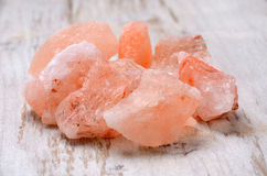 Himalajska różowa kryształ sól Zdjęcie Stock