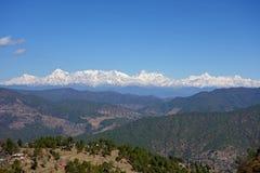 Himalajski Śnieżny pasmo od odległości obrazy royalty free