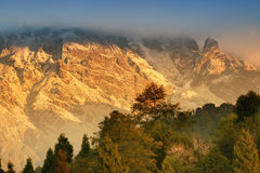 Himalajski pasmo górskie przy Ravangla, Sikkim Zdjęcia Royalty Free