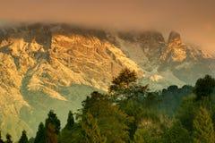Himalajski pasmo górskie przy Ravangla, Sikkim Fotografia Stock