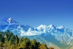 Himalajski pasmo górskie przy Ravangla, Sikkim Fotografia Royalty Free