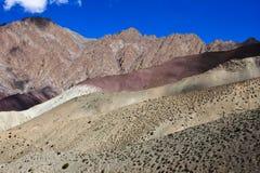 Himalay山的一个人,拉达克,印度 库存图片
