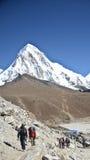 Himalay backpacking stock photo