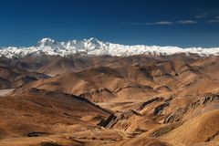The Himalaya. View from Tibet Royalty Free Stock Image