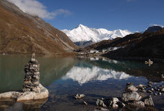 Himalaya Mountains Landscape Nepal. Himalaya Mountains Landscape, Everest Region, Nepal Stock Images
