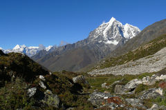 Himalaya Mountains Landscape Nepal Stock Photo