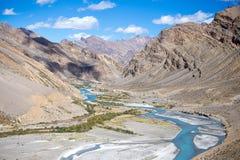 Himalaya along Manali-Leh highway. India. Himalayan landscape in Himalayas along Manali-Leh highway. Himachal Pradesh, India Royalty Free Stock Photography