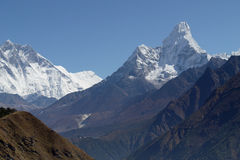Himalaya Mountains Landscape Nepal Royalty Free Stock Images