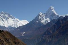 Himalaya Mountains Landscape Nepal. Himalaya Mountains Landscape, Everest Region, Nepal royalty free stock images