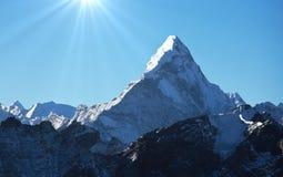 Himalaya. AmaDablan Mountains in Sagarmatha region,Himalaya royalty free stock photo