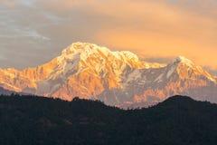 Himalaya. Beautiful Himalaya range from Nepal stock image
