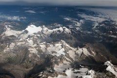 Himalaya bergsikt från flygplanet Fotografering för Bildbyråer