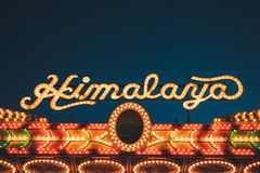Himalaya Casino in lights Stock Photos