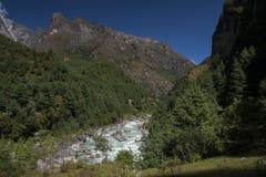 Himalaya. CHHEPLUNG, NEPAL - CIRCA OCTOBER 2013: view of the Himalayas circa October 2013 in Chheplung Stock Photo