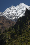 Himalaya. CHHEPLUNG, NEPAL - CIRCA OCTOBER 2013: view of the Himalayas in the way of Chheplung to Namche Bazar circa October 2013 in Chheplung Stock Photos