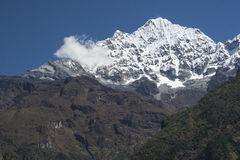 Himalaya. CHHEPLUNG, NEPAL - CIRCA OCTOBER 2013: view of the Himalayas in the way of Chheplung to Namche Bazar circa October 2013 in Chheplung Stock Photo