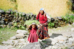 Himalaya Child Porter, Nepal Stock Photography
