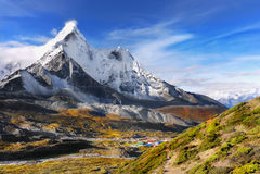 Amazing Himalayan Peaks, Himalayas   Royalty Free Stock Images
