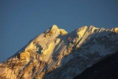 Himalaya de la puesta del sol fotografía de archivo libre de regalías