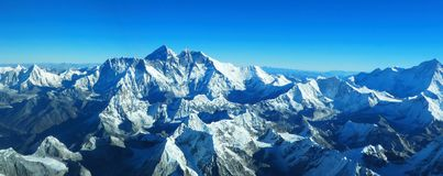 Himalaya - el monte Everest Fotos de archivo libres de regalías