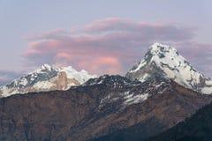 Himalaya. Evening Himalaya range from nepal stock photography