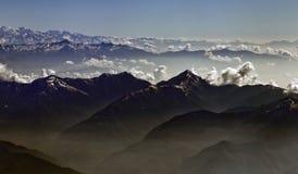 Himalaya Gebergte, Himalayan Mountains stock photography